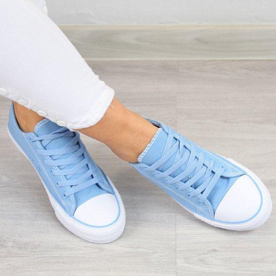 Niebieskie tenisówki sznurowane Wishot