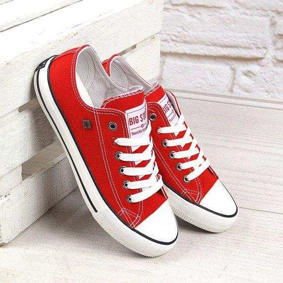 Czerwone tenisówki półtrampki BIG STAR T274020