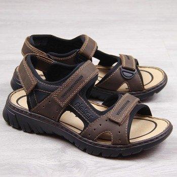 a139c71a Brązowe sandały męskie komfortowe Rieker 26757-25. Promocja Bestseller 30