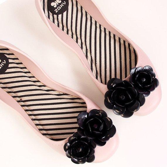 Baleriny gumowe pudrowy róż Zaxy Start V