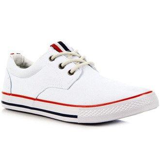 Białe tenisówki męskie Wishot