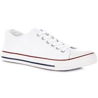 Białe tenisówki męskie półtrampki Wishot