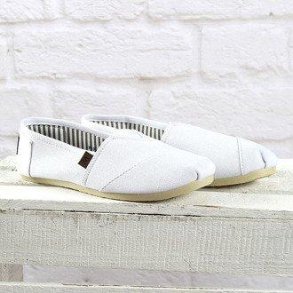 Białe tenisówki tomsy wsuwane Wishot