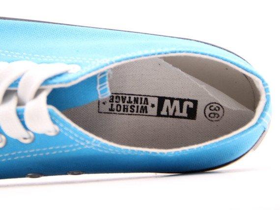 Błękitne tenisówki półtrampki Wishot