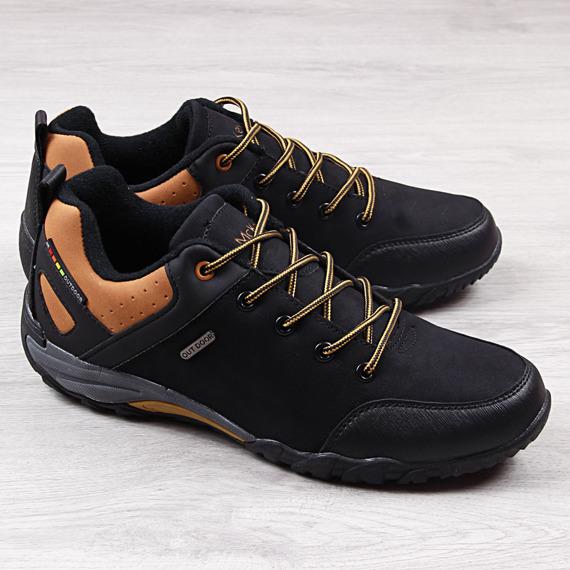 Buty męskie trekkingowe czarne McKeylor