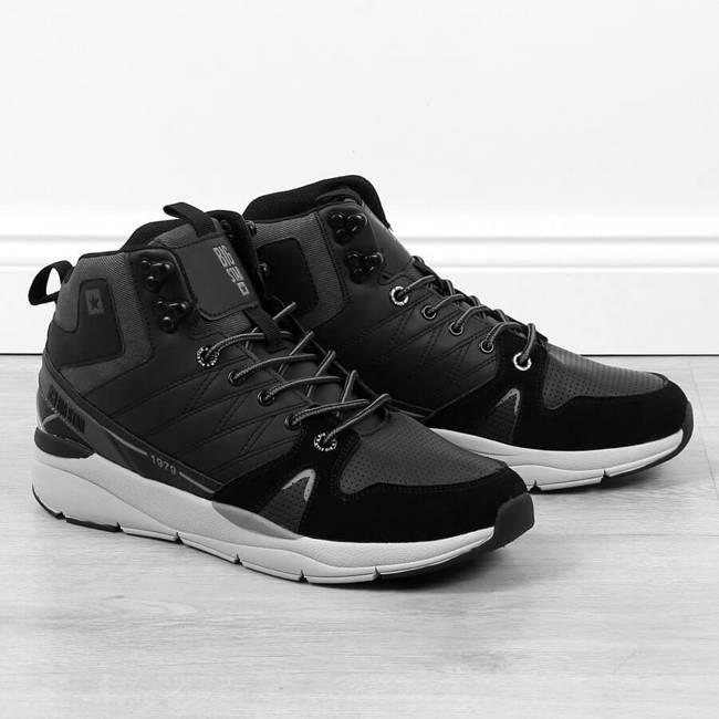 Buty skórzane męskie wysokie czarne Big Star II174223