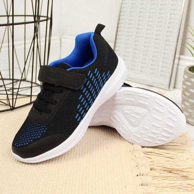 Buty sportowe chłopięce na rzep czarne NEWS