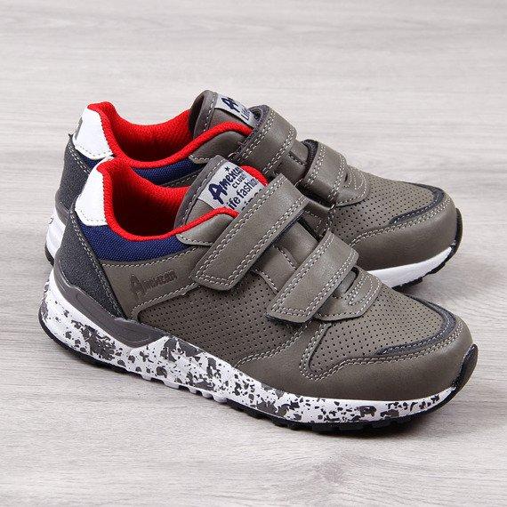 Buty sportowe chłopięce szare American Club