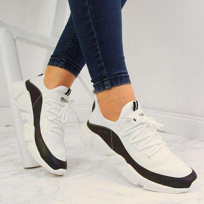 Buty sportowe damskie benzynowe białe Big Star FF274A052