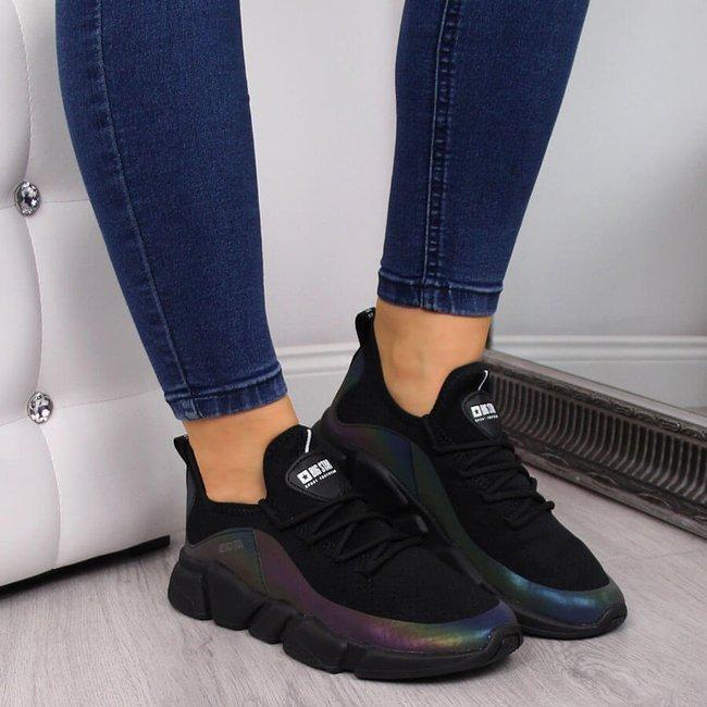 Buty sportowe damskie benzynowe czarne Big Star FF274A053