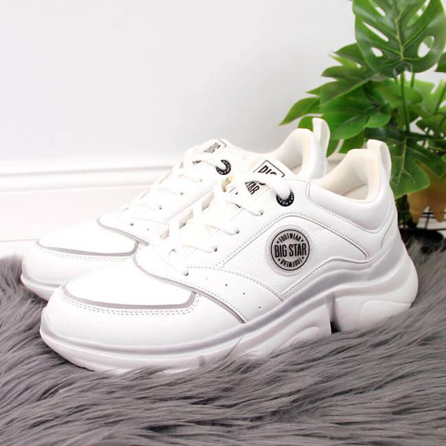 Buty sportowe damskie na platformie białe Big Star II274314