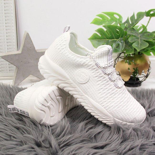 Buty sportowe damskie skarpetkowe białe Big Star HH274296