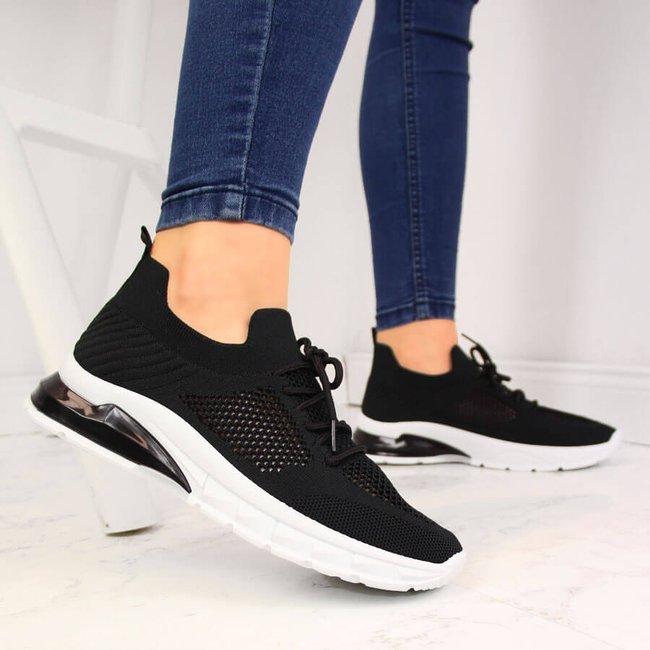 Buty sportowe damskie skarpety czarne Filippo
