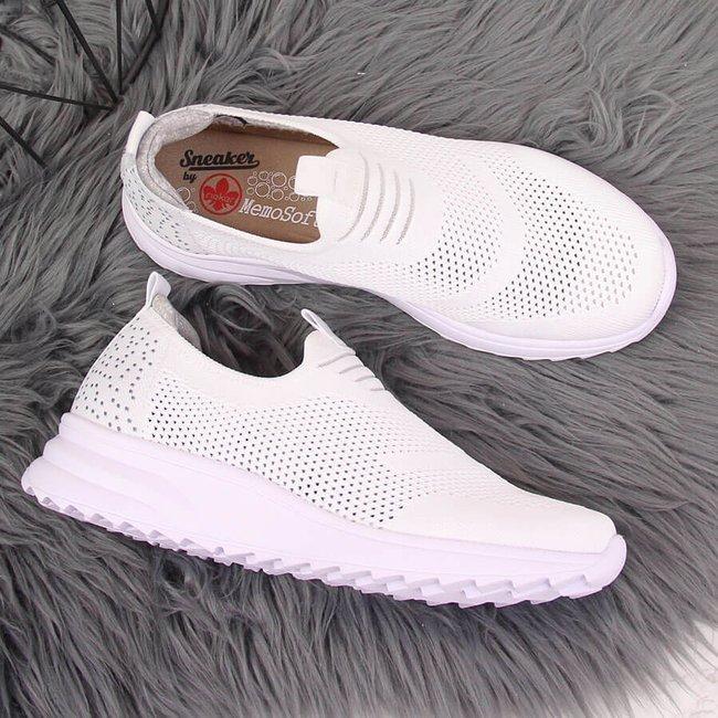 Buty sportowe damskie slip on białe Rieker N6670