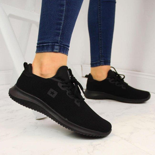 Buty sportowe do biegania czarne NEWS