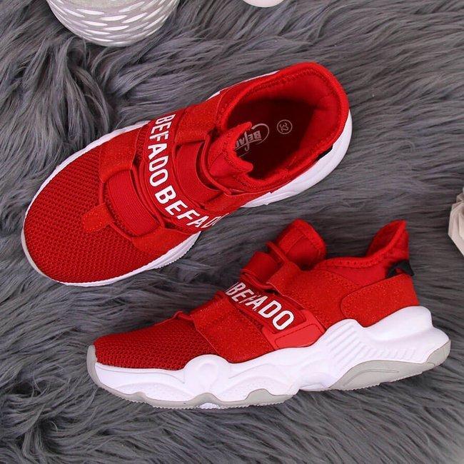 Buty sportowe dziecięce czerwone Befado