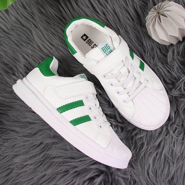 Buty sportowe dziecięce na rzep białe Big Star GG374019