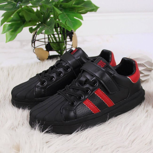 Buty sportowe dziecięce na rzep czarne Big Star GG374022