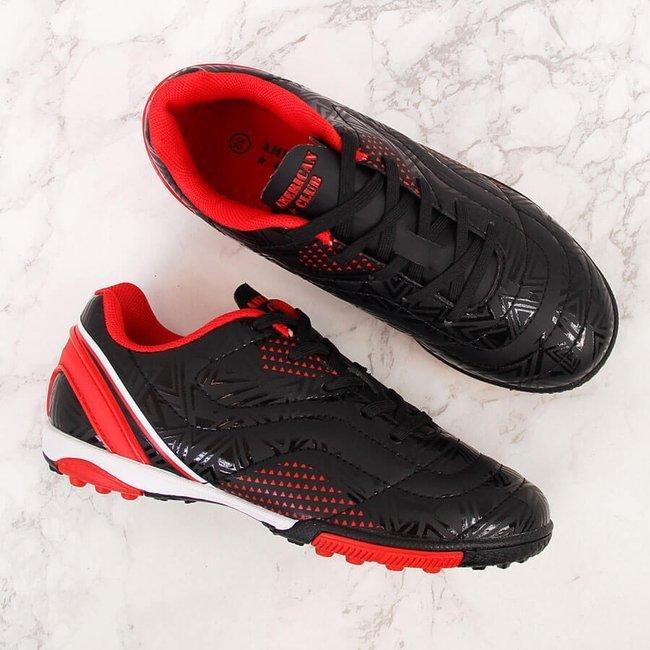 Buty sportowe dziecięce turfy na orlika czarne American Club