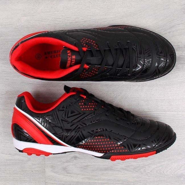 Buty sportowe młodzieżowe turfy na orlika czarne American Club