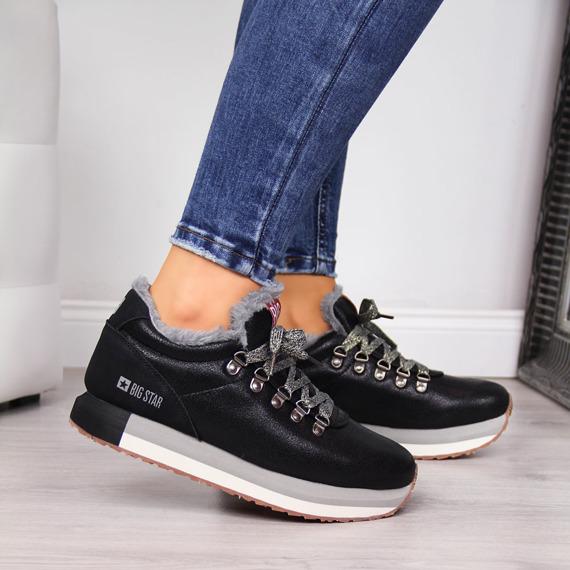 Buty sportowe na platformie czarne Big Star