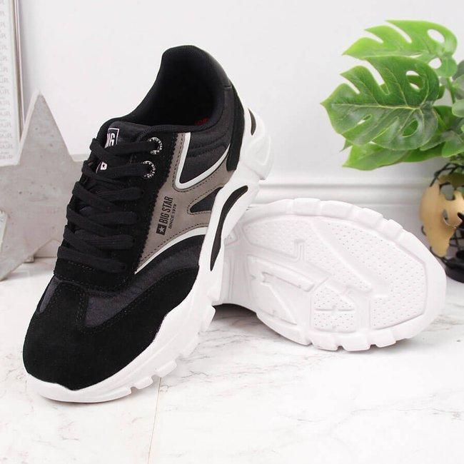 Buty sportowe na platformie czarne Big Star HH274336