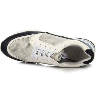 Buty sportowe srebrne wężowe Fabulous Fabs