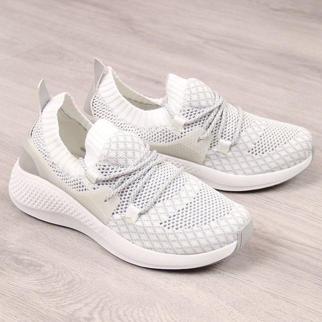 Buty sportowe tekstylne białe Atletico