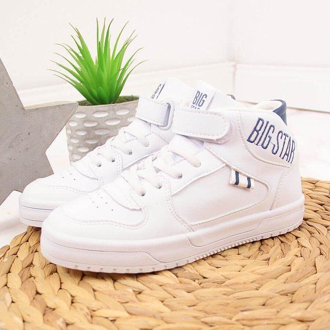 Buty sportowe wysokie dziecięce białe Big Star II374034