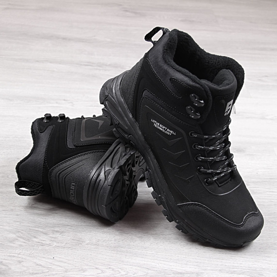 Buty trekkingowe męskie wodoodporne czarne McBraun