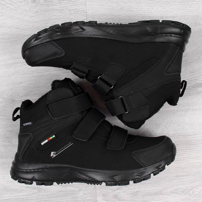 Buty trekkingowe męskie wodoodporne ocieplane czarne American Club