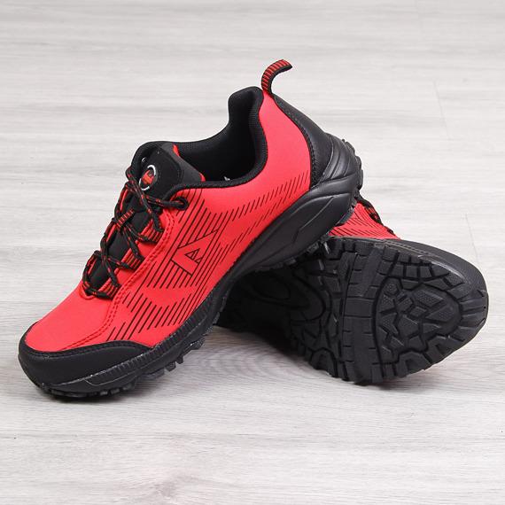 Buty trekkingowe wodoodporne czerwone American Club