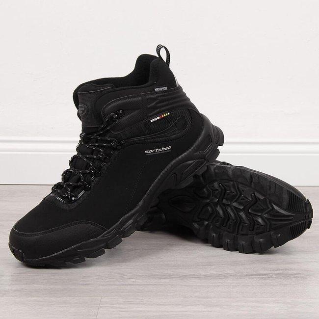 Buty trekkingowe wodoodporne nadwymiar czarne American Club