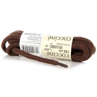 COCCINE brązowe bawełniane sznurowadła 120 cm