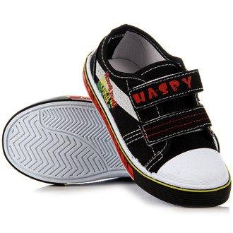 Czarne tenisówki dziecięce na rzepy Hasby