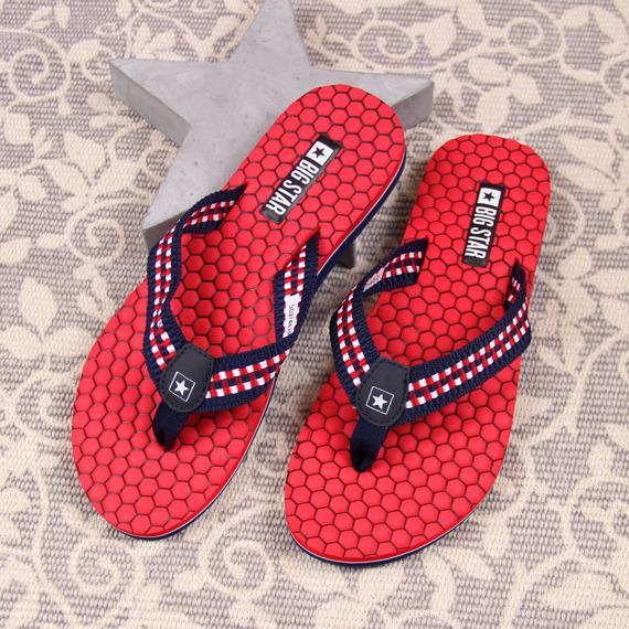 Japonki damskie plażowe czerwone Big Star DD274A252