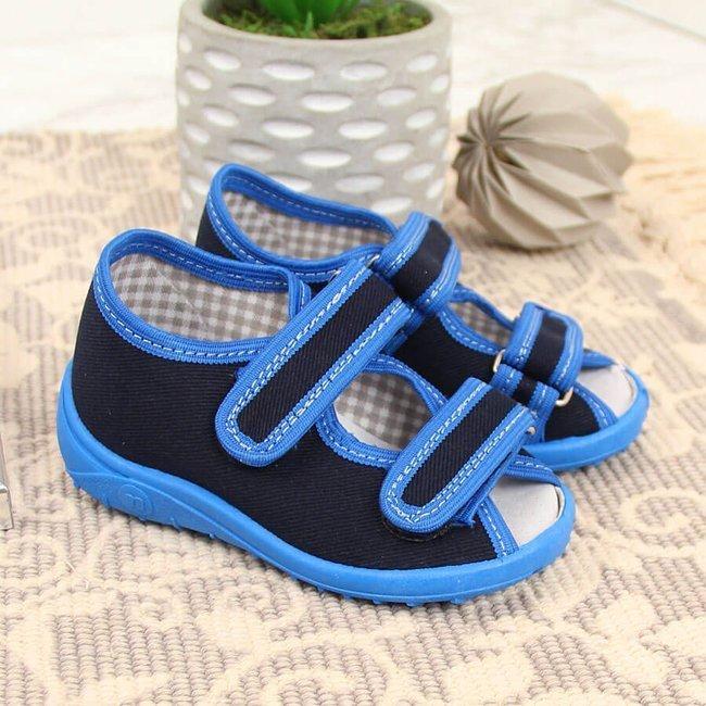Kapcie chłopięce sandałki domowe Nazo