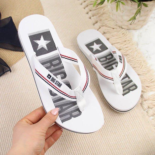 Klapki basenowe plażowe japonki białe Big Star HH274A062