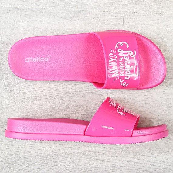 Klapki damskie plażowe różowe Atletico