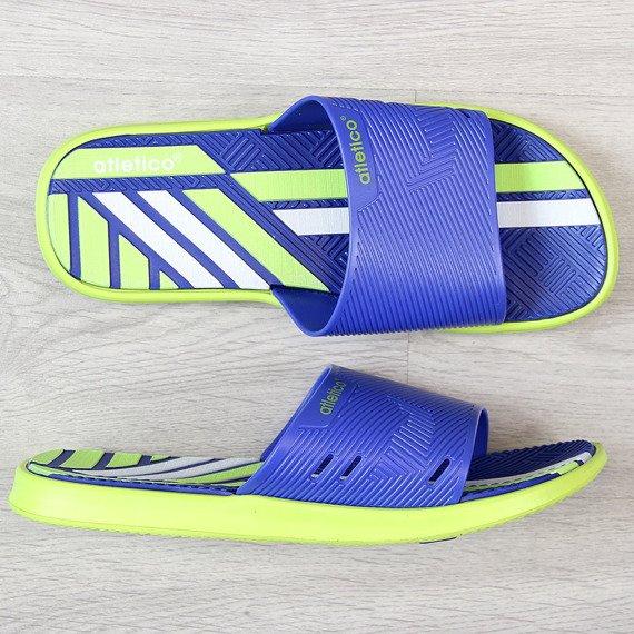 Klapki męskie basenowe niebieskie Atletico