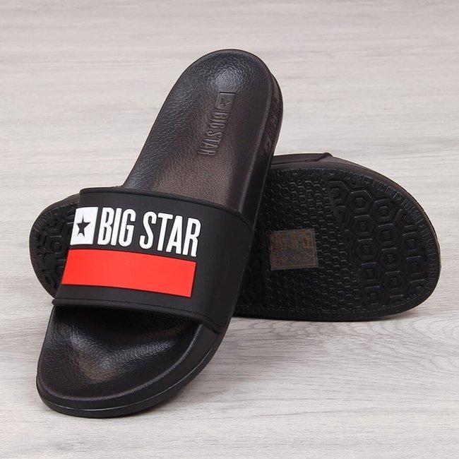 Klapki męskie gumowe plażowe czarne Big Star GG174936