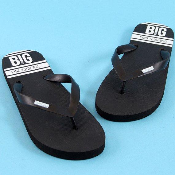 Klapki męskie japonki plażowe czarne Big Star AA174419