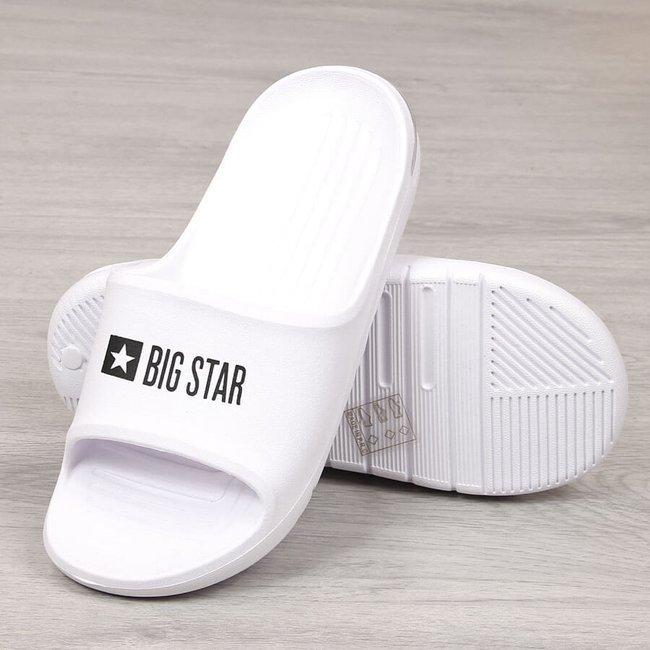 Klapki męskie piankowe plażowe białe Big Star GG174918