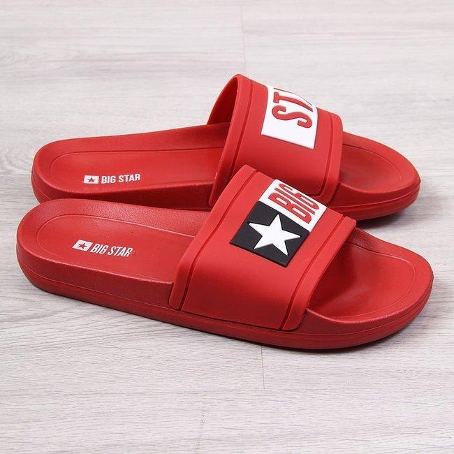 Klapki męskie plażowe basenowe czerwone Big Star DD174702