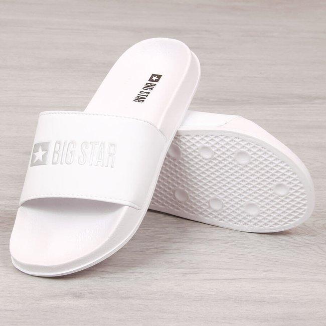 Klapki męskie plażowe białe Big Star GG174935