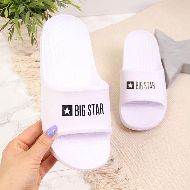 Klapki piankowe plażowe basenowe białe Big Star GG274A026