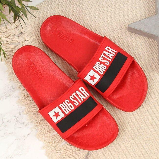 Klapki plażowe basenowe czerwone Big Star GG274A048