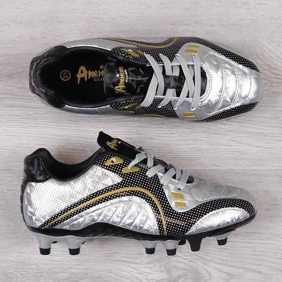 Korki piłkarskie dziecięce srebrne American Club