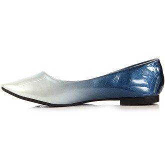 Niebieskie baleriny damskie ombre W.Potocki
