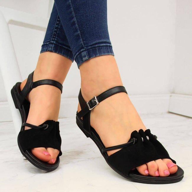 Sandały damskie czarne Jezzi